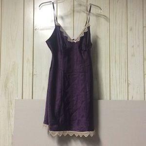 Purple silk nightie